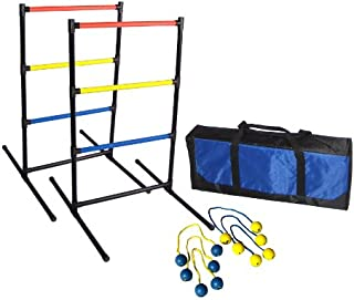 Driveway Games LADRTS-GM-00140 Ladder Ball Toss Game with 6 Bolos Bolas & Carrying Case for Outdoor, Lawn, Yd