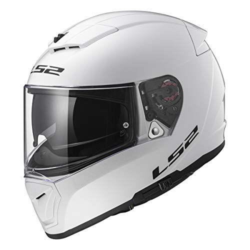 LS2 Helmets Full Face Street Breaker Helmet (White - Small)