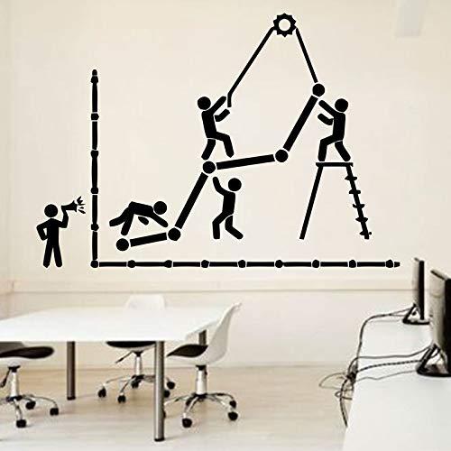 HNXDP Oficina Tatuajes de pared Idea Trabajo en equipo Trabajador de negocios Inspirar Decoración de oficina Motivación Pegatinas Decoración de la habitación Regalo único LZ36 81x57cm