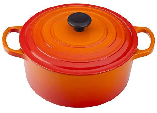 Le Creuset Enameled Cast Iron Signature Round Dutch Oven, 3.5 qt. , Flame