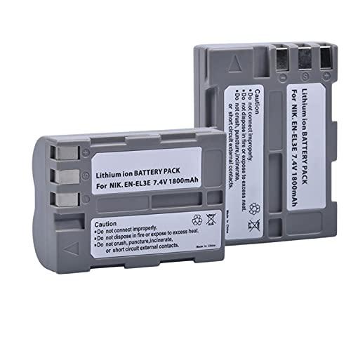 RFGTYH Batería de Repuesto para cámara EN-EL3e para Nikon D300S D300 D100 D200 D700 D70S D80 D90 D50