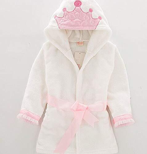 Baby Mädchen Jungen Roben Kinder Bademantel Kapuzenmütze Weiche Samt Robe Pyjama...