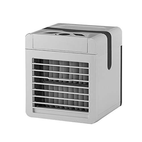 GGLL Enfriador de Aire Móvil Personal Mini Air Cooler de Escritorio, Aire Acondicionado USB, con Manija, 3 Velocidades, Silencioso,diseño Innovador, Evita Que Climatizador Huela Mal Y Mohoso
