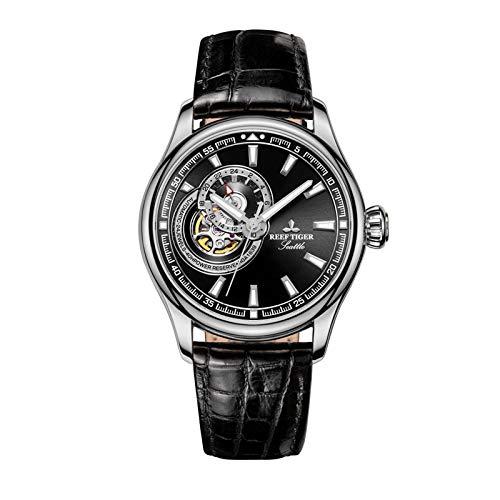 xiaoxioaguo Reloj de hombre azul reloj marca superior de lujo automático reloj mecánico correa azul hombres reloj al aire libre RGA1639-YBB