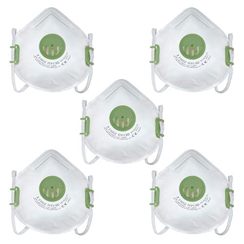FFP3 Atemschutzmaske, Baustaubmaske, CE, EN149:2001+A1:2009 Gesichtsmaske (5)