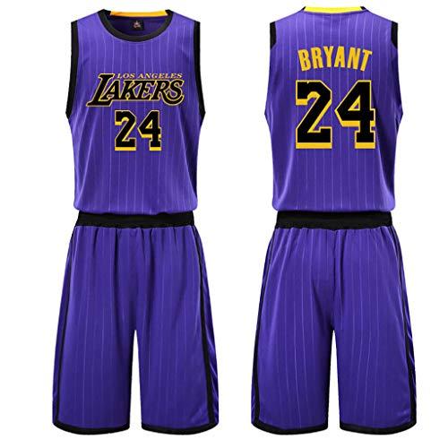 GJDU Swingman Edition Jersey-24# Kobe Bryant Jersey Basketball Trikots Sommer Anzüge Kits Top + Shorts 1 Satz-purple-5XL