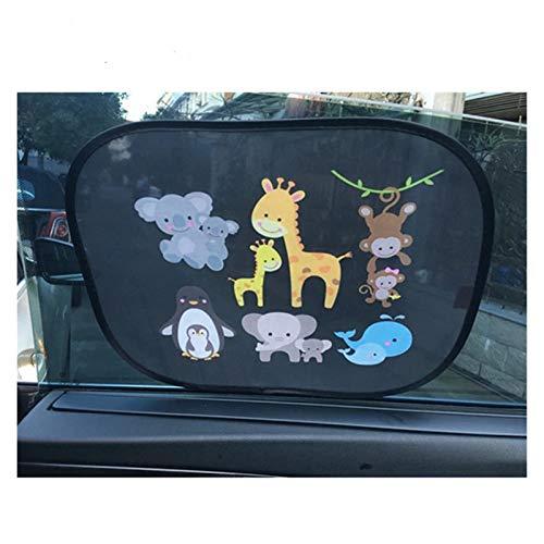 Coche Sun Shade Parasol 2pcs 44 * 36 cm Coche Sombrero Lateral de la ventana Ventana de parabrisas para niños Adultos Adultos Adsorción cubierta de sombrilla mascotas pueden estar más relajados, más c