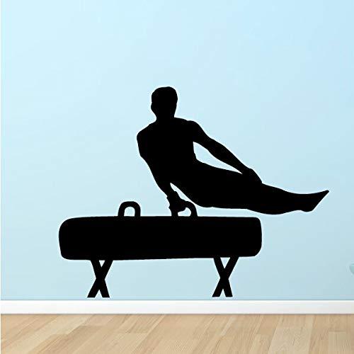 Calcomanía de jugador de musculoso deportivo con pomo de gimnasia dormitorio de niño decoración del hogar vinilo pegatina de pared impermeable cartel de Mural artístico