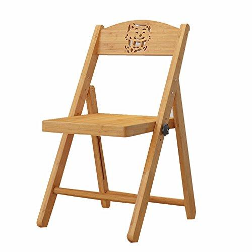 CAIJUN Tabouret Pliant Bambou Ménage Multifonction Télésiège Chaise Pliante Carbonisation, Couleur du Bois, 2 Styles Double Usage (Taille : Small-33x33x62cm)