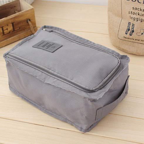 EgBert Komfortable Travel Storage Bag Nylon 5 Farben Portable Organizer Bags Shoe Sorting Pouch Multifunktion Bag - Grau