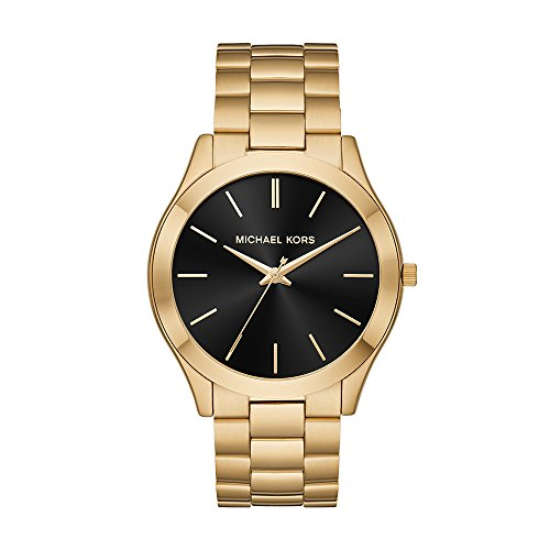 Michael Kors Men's Slim Runway Quartz Stainless-Steel Strap, Gold, 22...