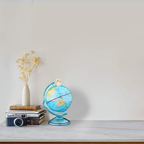 Relaxdays Spardose Globus HxBxT: 16,5 x 14 x 14 cm, politische Weltkarte, englische Beschriftung, Weltkugel, bunt - 2