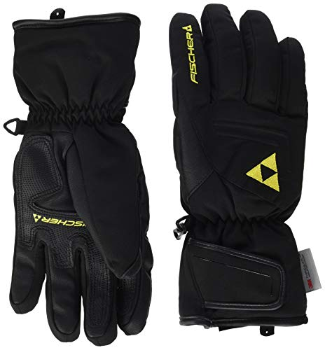 Fischer Sports Herren Ski Glove Micro Handschuh, Black, 9.0