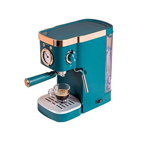 CJSWT Machine à café Expresso de Pompe Traditionnelle rétro, 20 Bars de Pression, 1050 W, 1,2 L réservoir d'eau Amovible, buse à Vapeur, système Anti-Goutte