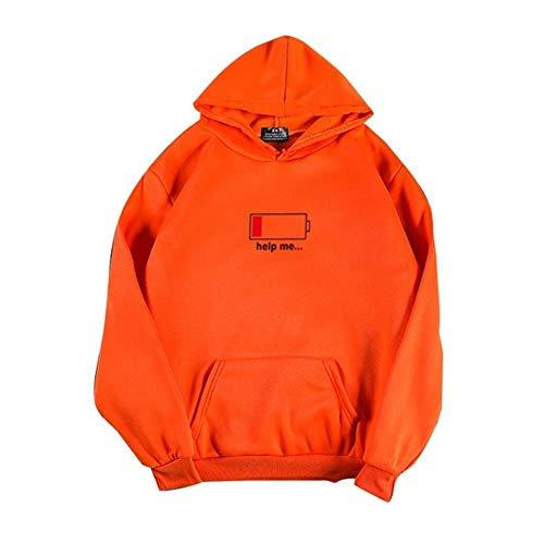 UKKD capuchonpullover casual oranje geel neon kleur hoodies hip hop sweatshirts streetwear skateboarding heren hoodies dames pullover mannelijk hoodie