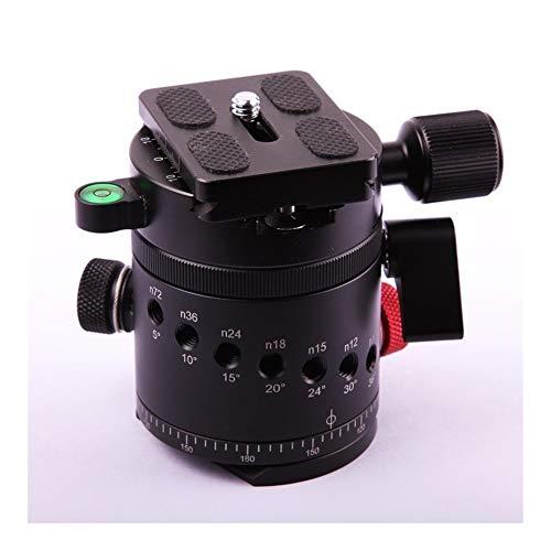 Treppiedi per fotocamera e monopiedi 360 gradi CNC panoramica Panorama 10 di indicizzazione capo Rotator Ballhead morsetto con piastra a...
