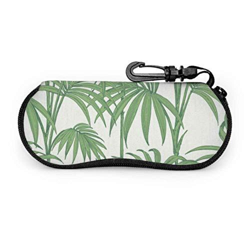 Arvolas Julien Macdonald Honolulu Wallpaper Palm Green Childrens Gafas de sol Estuche para hombres Gafas de sol Cremallera Estuche universal para gafas de sol