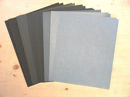 16 Bögen Schleifpapier 230 x 280 wasserfest, SIC, K 120-5000, für Holz, Farbe, Lack, Spachtel, Schleifbögen