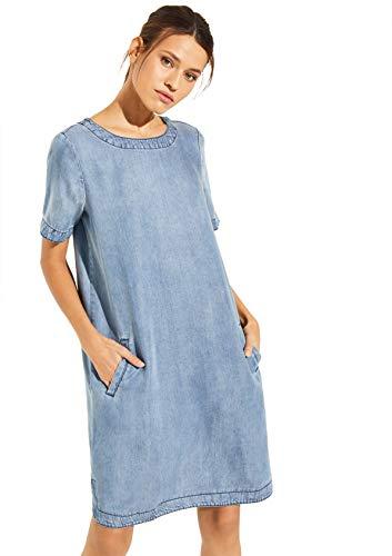 Comma CI 88.004.82.5450 Kleid, Damen, Blau 40 EU