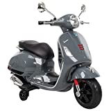 Huffy Kids Battery 6V Ride-On Vespa Scooter Grey
