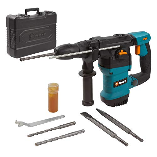 Bort Bohrhammer BHD-1500X, Schlagenergie: 6J, 1500W, Bohr-Ø Beton max: 32 mm, SDS-Plus-Aufnahme, Antivibrationsgriff, Drehzahlsteuerung inkl. 3xBohrer 2xMeißel