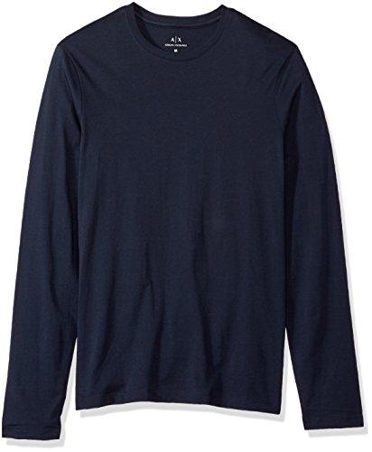 Armani Exchange 8nzm77 Camisa Manga Larga, Azul (Navy 1510), Small para Hombre