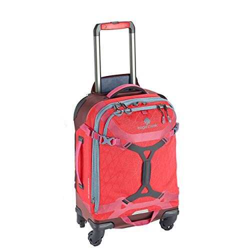 Eagle Creek Gear Warrior Carry Luggage Softside 4-Wheel Rolling Suitcase, Coral Sunset, 22 Inch