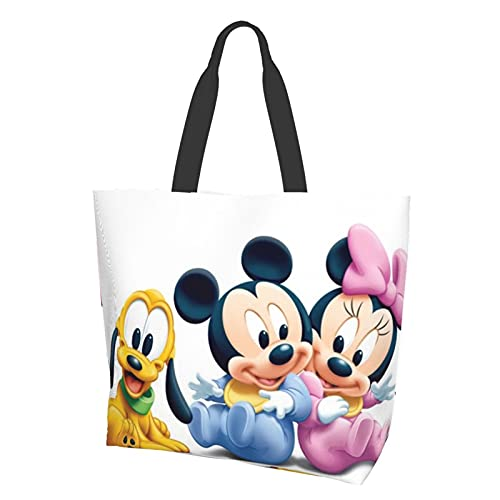 Bolsa de hombro para bebé de Mickey Mouse de alta capacidad, ligera y portátil, impermeable y resistente al desgaste, bolsa de almacenamiento