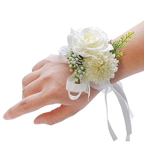 Fiori Artificiali Corsage da Polso, Fiori da Polso Sposa E Sposo Regali di Accompagnamento per Matrimoni Adatti per La Riunione della Scuola di Matrimoni del Ballo di Fine Anno