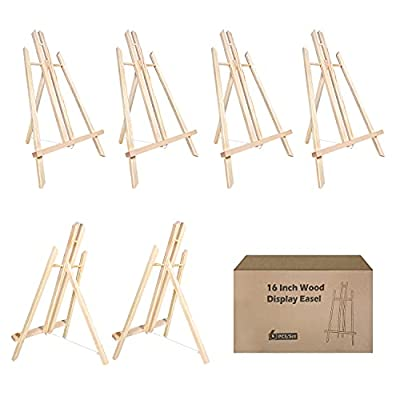 """Easel Tabletop Painting Easel 6 Pcs 16""""Easels Stand Wooden Easel for Painting Canvases Art Easel for Display /Painting Party/Kids/Adults/Wedding/Classroom/ Art Projects"""