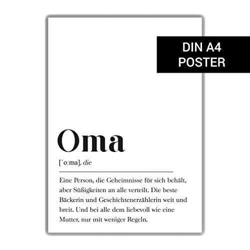 Oma Definition DIN A4 Poster