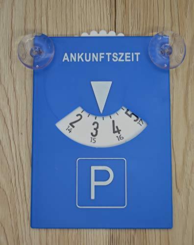 G&M Parkscheibe, Parkuhr mit Saugnapf, Kunststoff, blau