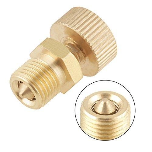 Tornillo de válvula de purga de aire de latón de 1 pieza para accesorios de bomba eléctrica de alta presión, utilizado principalmente en la bomba de aire de alta presión para purga de aire