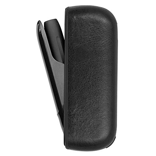 Protective Case for IQOS 3.0/3.0 Duo, Soft PU Holder Pocket Charger Cover Side Cover from Impact, Dust, Scratch Case for IQOS 3.0/3.0 Duo - Black