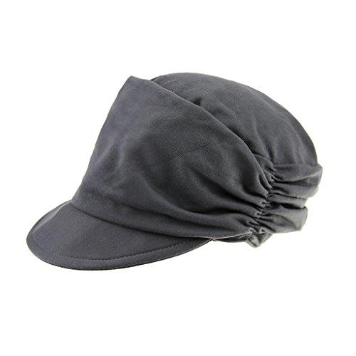 FakeFace Damen Weiche Falte Baskenmütze Schirmmütze Schiebermütze Wollmütze Beret Cap Barret Mütze Kappe Hut
