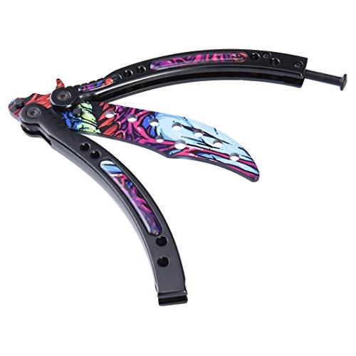 KNIFER CSGO Cuchillo de Hoja de Acero Inoxidable de la práctica de formación unsharpened tamaño estandar Genial combinacion de Colores (IDA)
