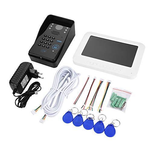 Sistema de seguridad en la casa de timbre de puerta, videoportero con cable, monitor de interfono y vídeo de 7 pulgadas