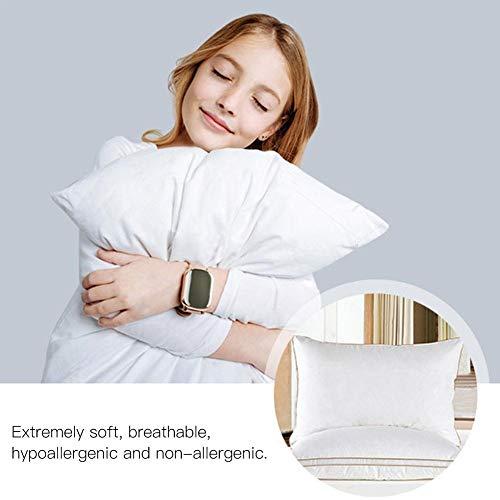4D Luxus Bettwäsche Gans Daunenkissen Kern - Schlafkissen mit Gänsefedern und Baumwollgewebe, weiche warme Gesunde Pflege Nackenkissen Kern