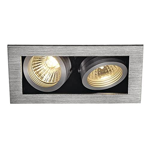 Slv Aluminio KADUX 2 / Foco, luz de inundación, proyector Techo, luminaria empotrable led, iluminación Interior / GU10 50 W