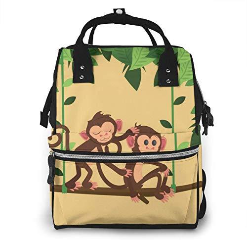 Jungle apen spelen swing grote capaciteit multifunctionele mama rugzak grote capaciteit landscap licht baby luier zakken