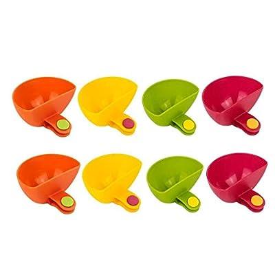 8pcs Dip Clip Bowl Plate Holder - Color Plastic...