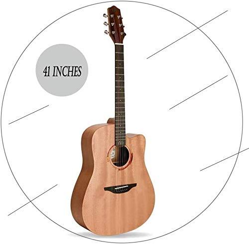 Guitarra eléctrica Guitarra acústica hecha a mano de madera sólida Cutaway Dreadnought...