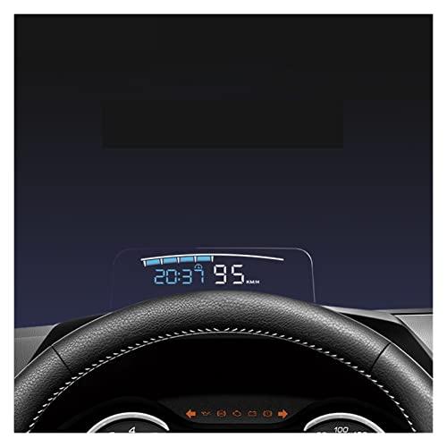 ZIMEI MEIKAI HUD. Specchio 04 Auto Display Verso l'Alto OBD2. velocità di Parabrezza Proiettore Allarme Allarme Allarme Temperatura Eccessiva Overspeed RPM. Voltaggio (Color Name : White)
