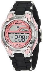 powerful Armitron Sport456984PNK Ladies Watch Pink and Black Chronograph