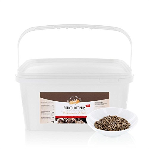 Akticolon PLUS Flohsamenpellets 3 kg Eimer Prebiotic Bentonit Vitamin B Komplex - für Pferde