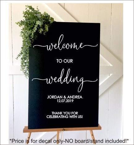 Ced454sy welkom bruiloft sticker voor teken maken hout sticker voor bruiloft decor sticker voor bruiloft houten teken moderne dank u decal