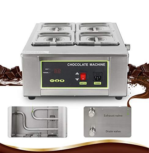 Huanyu Digitale smeltoven, meerdere roosters voor chocolade, 1000-1500 W, roestvrij staal, chocoladefontein, met een capaciteit van 8 kg/12 kg 8 KG Chocolate Capacity 4 Grids