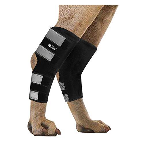NGLVKE Lot de 2 attelles pour pattes arrières pour chien, pour entorses, soutien de jambe arrière pour l'arthrite, stabilité après blessure, support pour chien (cheville) (L)