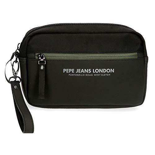 Pepe Jeans Sail Bolso de Mano Negro 24,5x15x5 cms Poliéster y PU