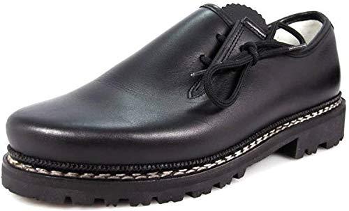 Meindl Haferl-Schuhe Trachtenschuhe 86M Herren Profilsohle schwarz Gr. 44 EU